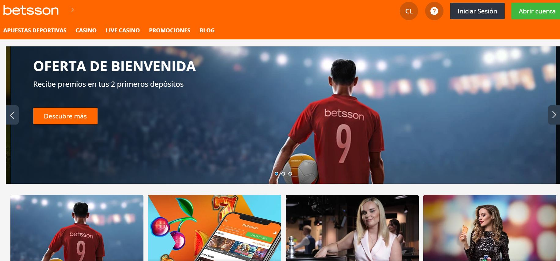 home betsson chile